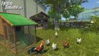 Скриншот куриц из Farming Simulator 2013