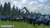 Красивая техника на скриншоте из Farming Simulator 2015