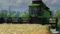 Комбайн на скриншоте из Farming Simulator 2013