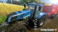 Фото Farming Simulator 2015 - трактор во время уборки урожая