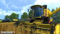 Скриншот комбайна Farming Simulator 2015