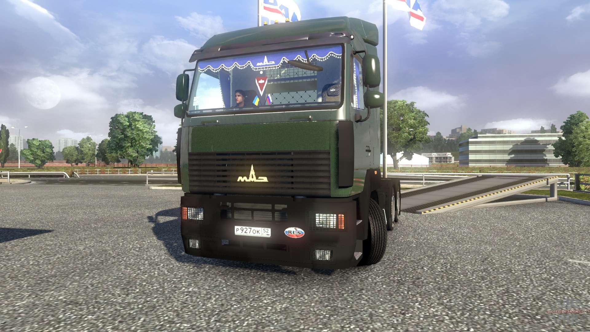 Euro truck simulator 2 скачать мод русская машина маз 5440а8 ets.
