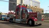 Красный грузовик из American Truck Simulator