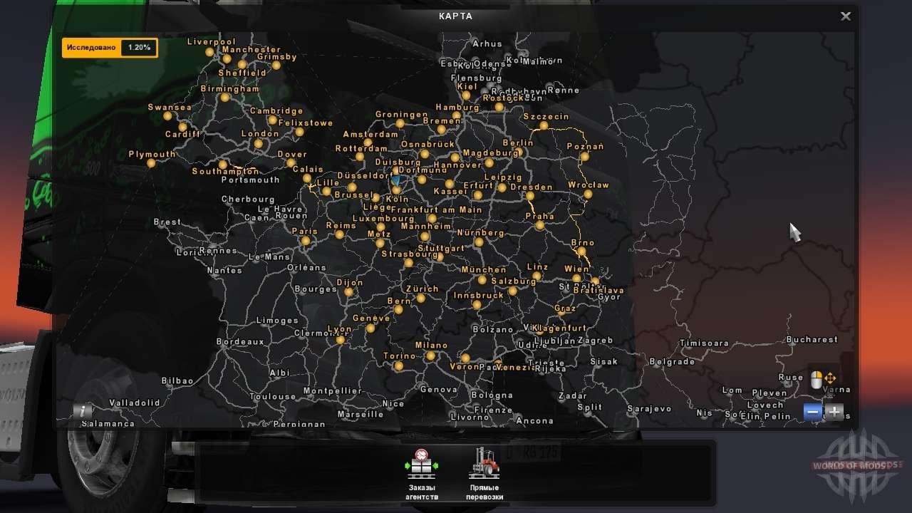 Euro Truck Simulator 2 Map euro truck simulator 2 mods maps european   bigneptun