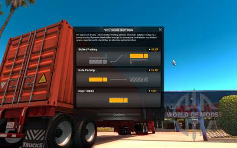 Интерфейс в American Truck Simulator