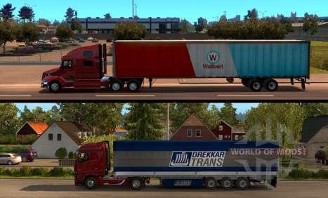 American Truck Simulator - сравнение длины прицепов