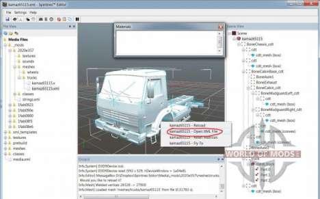 Вид mesh-файла в SpinTires Editor