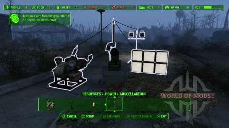 Электричество - основа благополучия при постройке дома в Fallout 4