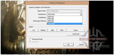 Меняем разрешение в Fallout4Launcher.exe