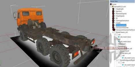 Вид грузовика в Spintires Editor