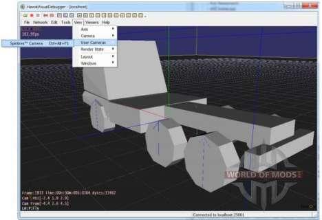 Вид модели в Havok Visual Debugger