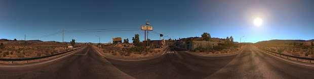 American Truck Simulator - панорама пустыни