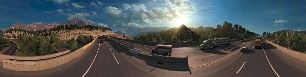 American Truck Simulator - панорама шоссе