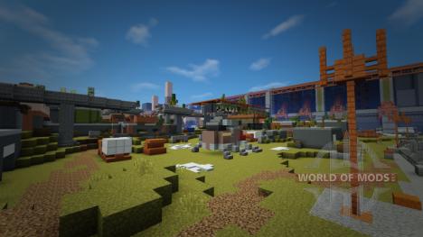 Cosmodrome из Destiny в Minecraft