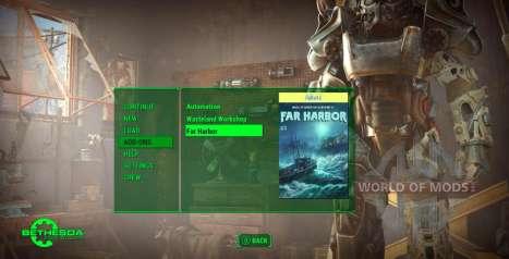 Обновление в меню Fallout 4