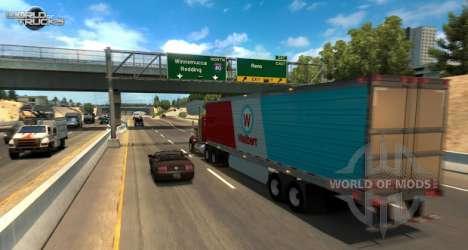 Скриншот из бета-теста обновления American Truck Simulator