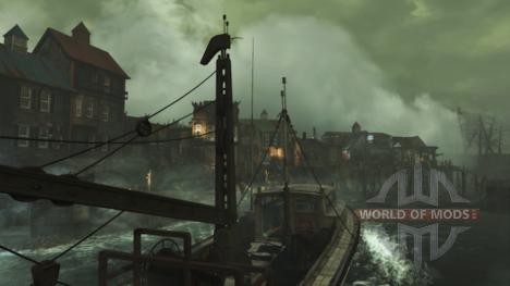 Основное поселение в DLC Far Harbor для Fallout 4