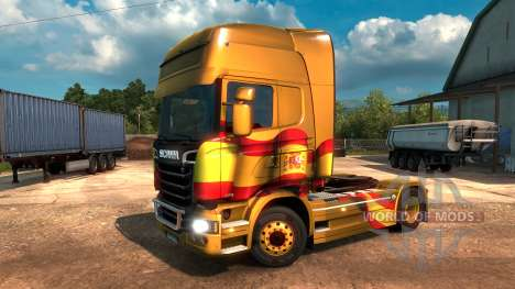 Spanish Flag Metallic для Euro Truck Simulator 2