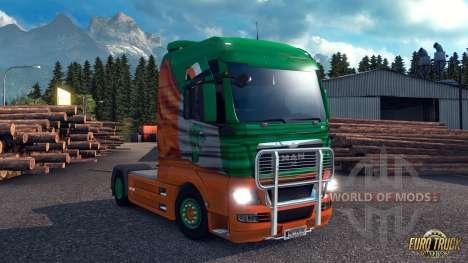 Ирландский флаг на окно для Euro Truck Simulator 2