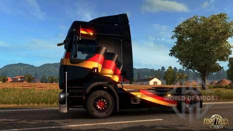 Немецкий флаг на окно для Euro Truck Simulator 2