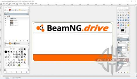 Создание шаблона номерного знака для BeamNG Drive