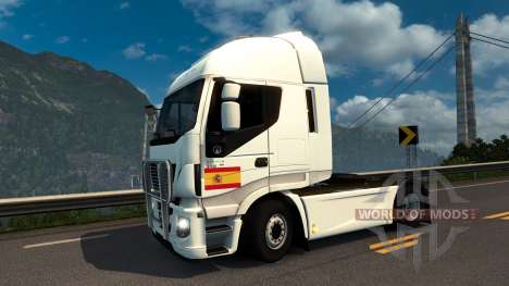 Spanish Flag Decal для Euro Truck Simulator 2