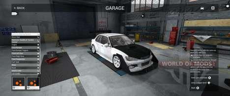 Режим гаража в BeamNG Drive