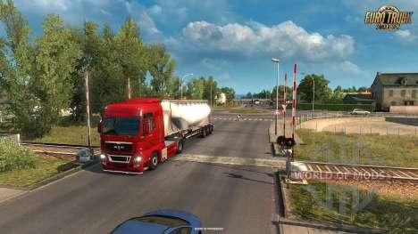 Железнодорожный переезд из обновления Vive La France для Euro Truck Simulator 2