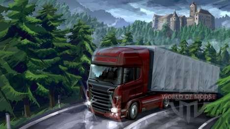 Лесные приключения в Euro Truck Simulator 2