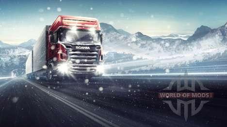 Сквозь метель в Euro Truck Simulator 2