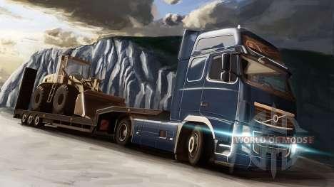 Volvo и бульдозер в Euro Truck Simulator 2