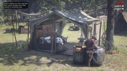 Red Dead Redemprion 2: расположение лагеря