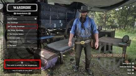 Red Dead Redemption 2: смена одежды
