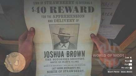 Плакат на Джошуа Брауна