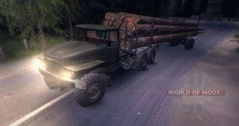 Урал лесовоз для Spin Tires