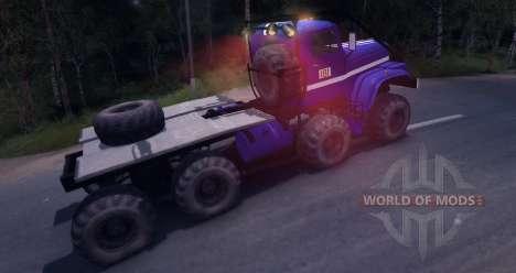 КрАЗ 8x8 Триал для Spin Tires