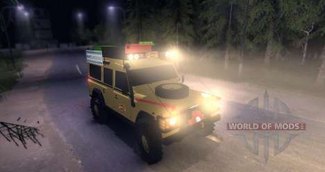 Land Rover Defender 110 CAMEL TROPHY для Spin Tires