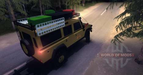 Land Rover Defender 110 CAMEL TROPHY для Spin Tires