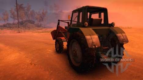 МТЗ-82 с куном для Spin Tires