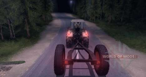 Dutra D4K with Trailer для Spin Tires