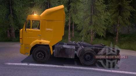 КамАЗ-65116 жёлтый для Spin Tires