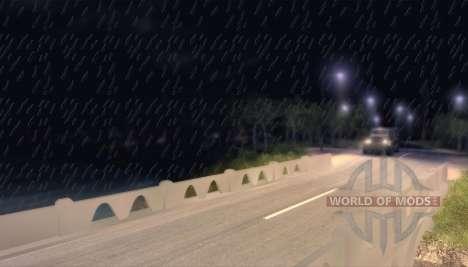 Атмосферные осадки в виде дождя для Spin Tires