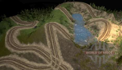 Карта Австралийский триал для Spin Tires