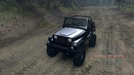Jeep Wrangler YJ Sahara для Spin Tires