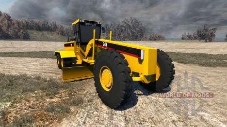 Caterpillar 24H Grader для BeamNG Drive