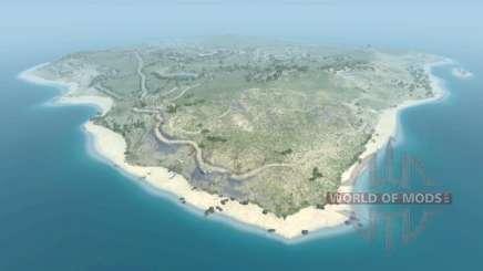 Локация -Dry rock island- для BeamNG Drive