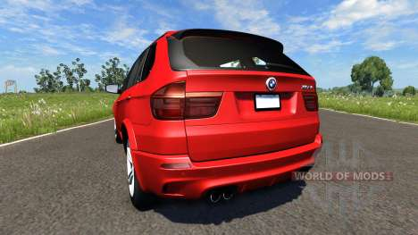 BMW X5M Red для BeamNG Drive