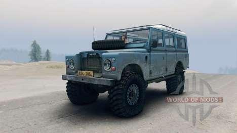 Land Rover Defender Blue для Spin Tires