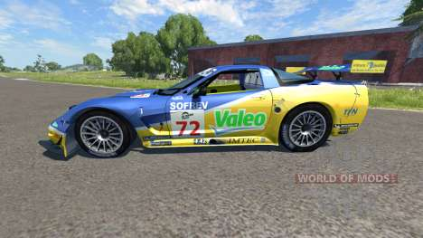 Chevrolet Corvette C5-R Valeo LeMans для BeamNG Drive