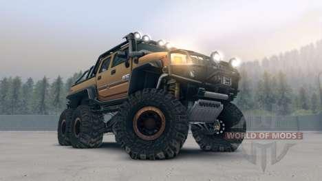 Hummer H2 SUT 6x6 для Spin Tires